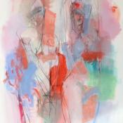 two figures, red