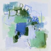 untitled, blue and green